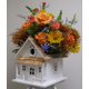 Home Bazaar Victorian Cottage Birdhouse/Planter