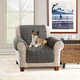 Sure Fit Waterproof Chair Slipcover Gray