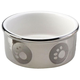 Paw Print Titanium Dog Dish 5inch