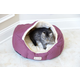 Armarkat Burgundy and Beige Soft Pet Bed