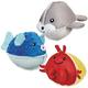 Grriggles Aquadudes Plush Dog Toy Hermit Crab