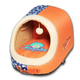 Touchdog Rabbit Spotted Active Play Orange Pet Bed