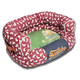 Touchdog Rabbit Spotted Red/Green Couch Dog Bed LG