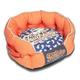 Touchdog Rabbit Spotted Orange Round Dog Bed LG