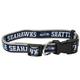Seattle Seahawks Ribbon Dog Collar Large