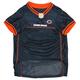 Chicago Bears Orange Trim Dog Jersey 2XLarge