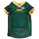 Green Bay Packers Yellow Trim Dog Jersey XSmall