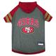San Francisco 49ers Hoodie Dog Tee Shirt Large