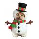 Walking Snowman Dog Costume Large