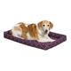 Quiet Time Ashton Plum Bolster Dog Bed 48in