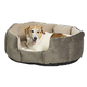 Quiet Time Tulip Gray Bolster Dog Bed 26in
