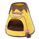 Touchcat Molten Lava Triangular Cat Bed Yellow