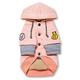 Touchdog Hampton Beach Dog Hoodie Sweater XS Pink