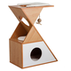 Elegant Home Natural Tri Cat Cuddle House  White