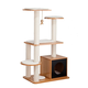 Elegant Home Natural Cat Post Tower Box  White
