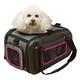 Pet Life Ergo Stow-Away Pet Carrier Black/Pink