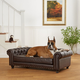Enchanted Home Pet Wentworth Brown Sofa Dog Bed