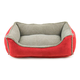 Faux Suede/Berber Red Comfy Cup Dog Bed XLarge