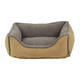 Faux Suede/Berber Caramel Comfy Cup Dog Bed XLarge