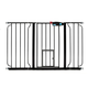 Carlson Pet Black Extra Wide Gate with Pet Door