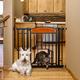 Carlson Pet Design Paw Auto Close Gate w/ Pet Door