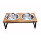 Luxe Craft Contemporary Wooden Dog Diner 64oz