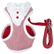 Pet Life Spawling Dog Harness/Leash XSmall Red