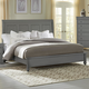 All-American New Orleans Queen Low Profile Sleigh Bed in Zinc