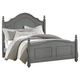 All-American New Orleans Queen Poster Bed in Zinc