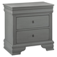 All-American New Orleans 2 Drawer Nightstand in Zinc