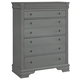 All-American New Orleans 5 Drawer Chest in Zinc