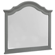 All-American New Orleans Arched Mirror in Zinc