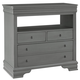 All-American New Orleans 4 Drawer Media Chest in Zinc