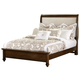 All-American New Orleans Twin Upholstered Bed in French Cherry