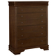 All-American New Orleans 5 Drawer Chest in French Cherry