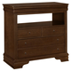 All-American New Orleans 4 Drawer Media Chest in French Cherry