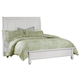 All-American New Orleans Queen Low Profile Sleigh Bed in Soft White