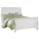All-American New Orleans King Sleigh Bed in Soft White