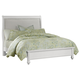 All-American New Orleans Twin Upholstered Bed in Soft White