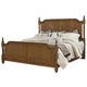 All-American Nordic Kingdom King Poster Bed in Antique Cherry