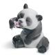 Panda heureux par Lladro