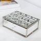 Boîte à bijoux à carreaux en miroir