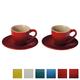 Tasse et soucoupe à espresso par Le Creuset
