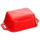 Beurrier en céramique rouge par Staub