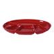 Plat pour fondue ovale rouge par Swiss Cross
