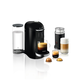 Machine à capsules Nespresso « VertuoPlus Deluxe » noire avec Aeroccino par Breville