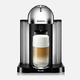 Machine à capsules Nespresso «Vertuo» chrome par Breville