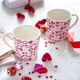 Ensemble de 2 tasses roses « Hearts »