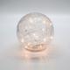 Sphère lumineuse DEL en verre craquelé