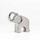 Éléphant en céramique martelé 6.5 po